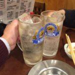 新橋の居酒屋「赤札屋」で乾杯!100円の激安チューハイと山盛りナポリタン