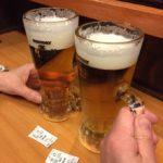 渋谷の蕎麦店「嵯峨谷」で乾杯!プレモル150円でちょっとトクした気分