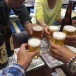 赤羽の居酒屋「まるます家」で乾杯!関西の友と川魚で一献