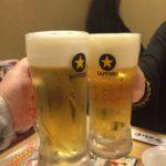 有楽町高架下の居酒屋「はないち」で乾杯 さすが清龍グループは安くて美味しい