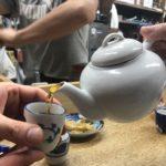 高田馬場の「餃子荘 ムロ」で乾杯/三種の餃子とアツアツの老酒