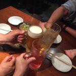 池袋の居酒屋「酒蔵 力」で乾杯/30年ぶりの同級生と