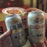 大井町の立ち飲み「肉のまえかわ」で乾杯/鶏のささみと缶ビール