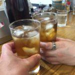 博多ラーメンの「ばりこて 高田馬場店」で乾杯/満腹でも替え玉できちゃう