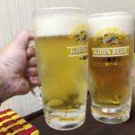 横浜橋商店街の「立ち飲み日昇」で乾杯/海鮮チヂミと金麦