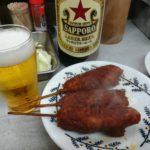 名古屋 串カツ「八幡屋」味噌串カツ、どて煮にサッポロ赤星で名古屋を堪能
