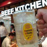 【新橋】名物ビフテキ290円!『ビーフキッチンスタンド 新橋店』でお肉をつまみにこぼれワインを