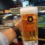 【江古田】焼きとん1本70円!『きん魚』で美味しいサッポロの生ビールと激安の焼きとん