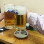 【品川】昼は立ちそば、夜は立ち飲み!『ふじ』の60円ハムカツと無料のもやしナムル
