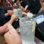 【池袋】居酒屋「三福」の2階でビアガーデンの打ち上げ飲み